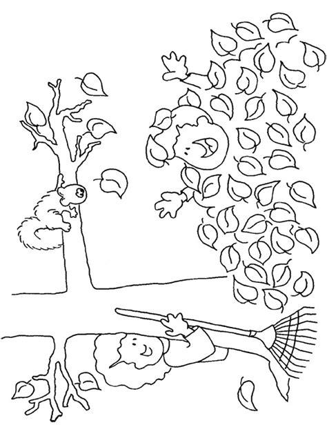 Kleurplaat Herfstboom by Kleurplaten Herfst Animaatjes Nl