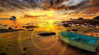 Indonesia Wallpapers Jakarta Sunset Boat Beach Hipwallpaper