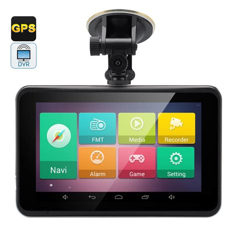 android gps 5 inch touchscreen car gps navigator with 720p hd dvr dash