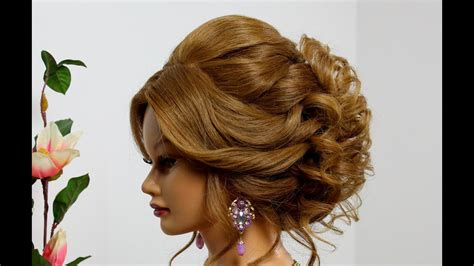 Wedding For Medium Hair : Bridal Hairstyle For Long Medium Hair. Wedding Prom Updo