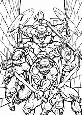 Ninja Turtles Mutant Teenage Coloring Pages Books Coloringpages Printable Cat sketch template