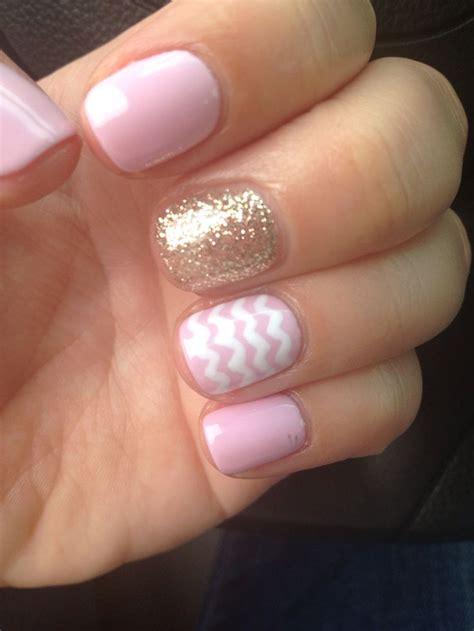 gelnägel glitzer summer glitter pink chevron gel nails pretty