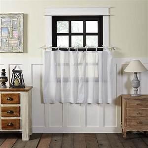 White, Farmhouse, Kitchen, Curtains, Nora, Tie, Top, Cotton, Sheer, Polka, Dots, 36x36, Tier, Pair