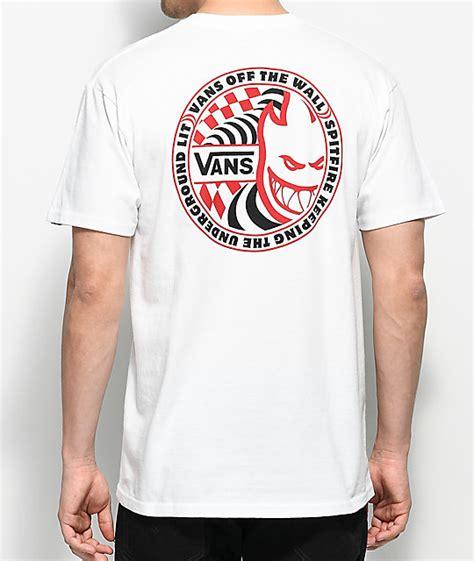 vans spitfire white t shirt zumiez