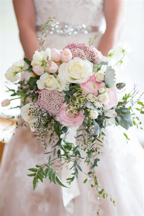 pin   knot  wedding bouquets cascading wedding