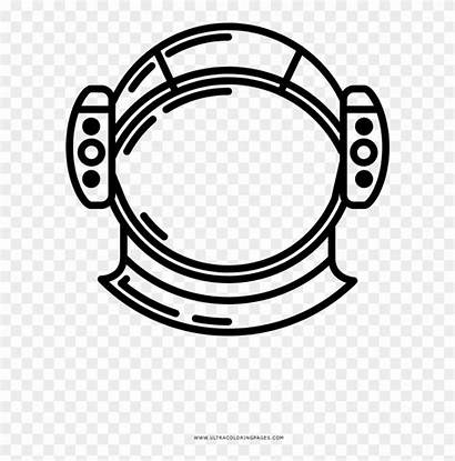 Helmet Coloring Space Circle Clipart Pikpng