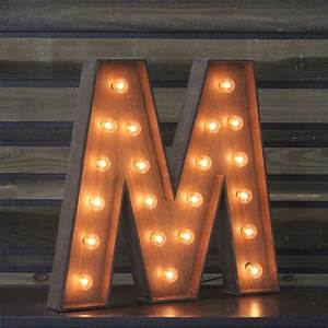 Edison Marquee Letter QuotMquot Town Country Event Rentals