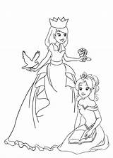 Princess Coloring Pages Princesses Simple Rose Material Much These Clipartqueen sketch template