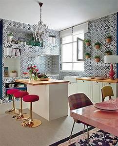 idees deco pour une petite cuisine ouverte design feria With idee de deco salon salle a manger pour petite cuisine Équipée