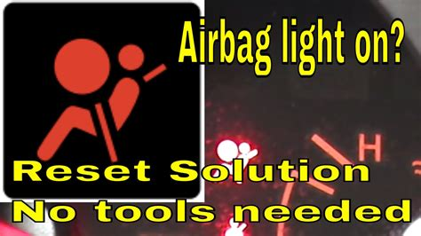 airbag light on how to reset airbag light on nissan or infinity
