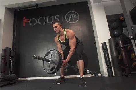 landmine row muscle fitness training form