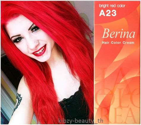 Berina A23 Bright Red Hair Cream Color Permanent Super