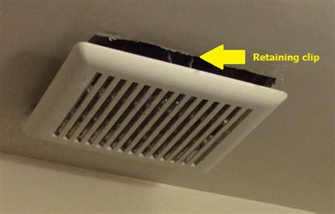 how do bathroom exhaust fans work bathroom is it normal for an exhaust fan cover to hang