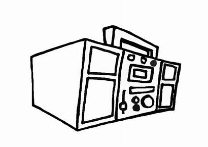 Coloring Box Boom Boombox Drawing Pages Clipart