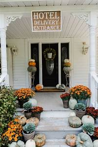 rustic fall farmhouse steps