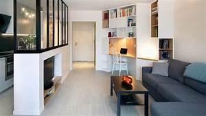 Meuble De Separation Design : biblioth que meuble multifonction c t maison ~ Teatrodelosmanantiales.com Idées de Décoration
