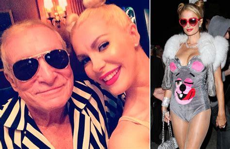 Hugh Hefner And Crystal Harris Robin Thicke Miley Cyrus