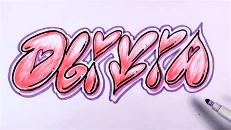 Graffiti Olivia : How To Draw Graffiti Letters