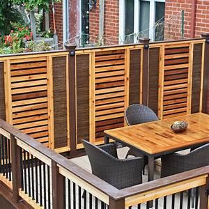 un ecran a l39epreuve des intrusions et du son patio With modele de terrasse en bois exterieur 4 ecran dintimite exterieur patio du nord