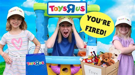 Kids Make Silly Fake Toys R Us Workers Youtube