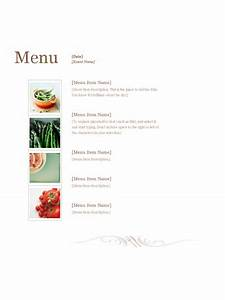 restaurant menu office templates With food menu templates for microsoft word