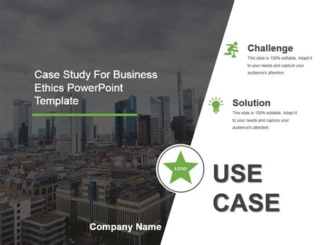case study  business ethics powerpoint template