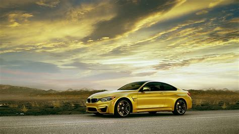 M4 Coupe Hd Picture by Wallpaper Bmw M4 Coupe F82 Yellow Car Side View 1920x1200
