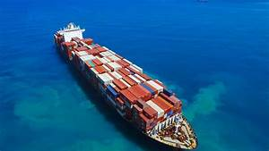Large Container Ship At Sea - Aerial Footage Stock Footage ...