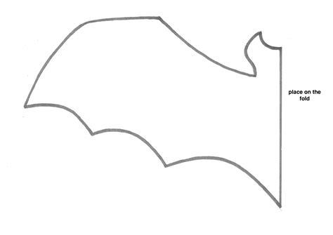 Bat Template Large Bats Cutouts Holidays Wizard