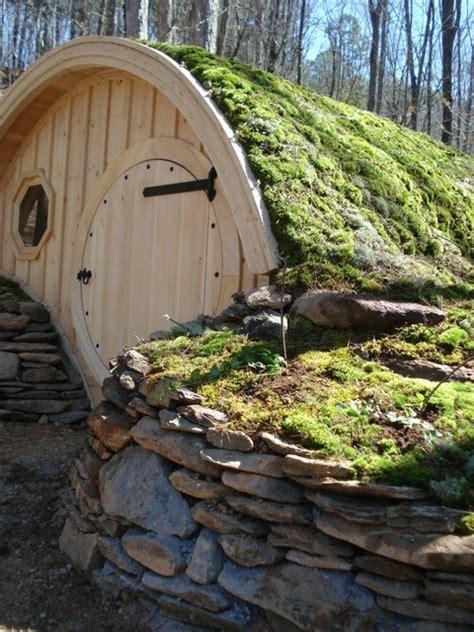hobbit hole cottage rustic portland maine  wooden
