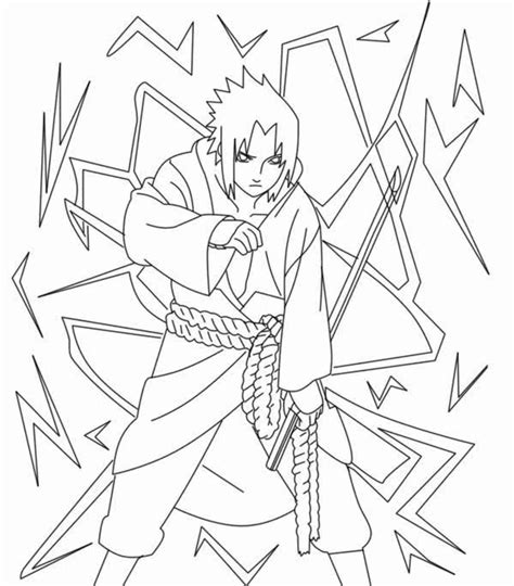 Naruto Sasuke Akatsuki Coloring Book Pages Coloring