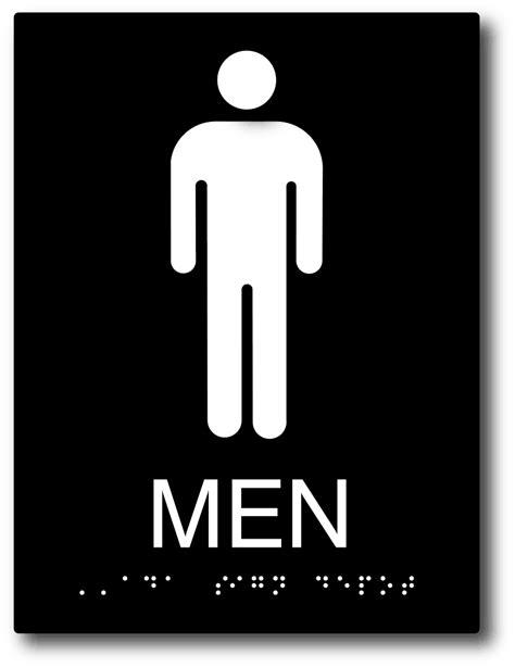 signs mens restroom sign ships today  sign depot