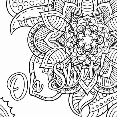 Coloring Shit Therapy Cursing Oh Word Swear