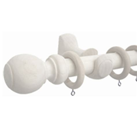 smart home products 33mm x 160cm wooden white curtain rod set