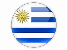 Round icon Illustration of flag of Uruguay