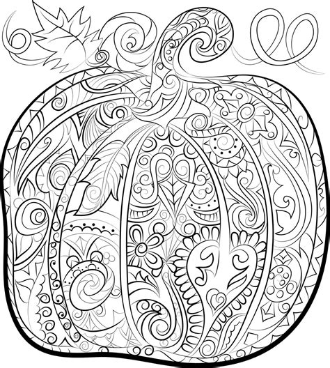 pumpkin adult colouring page halloween instant