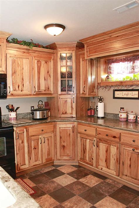 rustic hickory kitchen cabinets hickory kitchen cabinets kitchen hickory kitchen