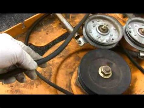 cub cadet mower deck belt problems electric clutch adjusting and troubleshooting for lawn