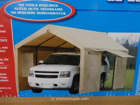 10x20 car steel frame canopy with side walls