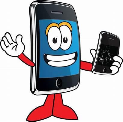 Phone Mobile Cartoon Repair Clip Cellphone Clipart