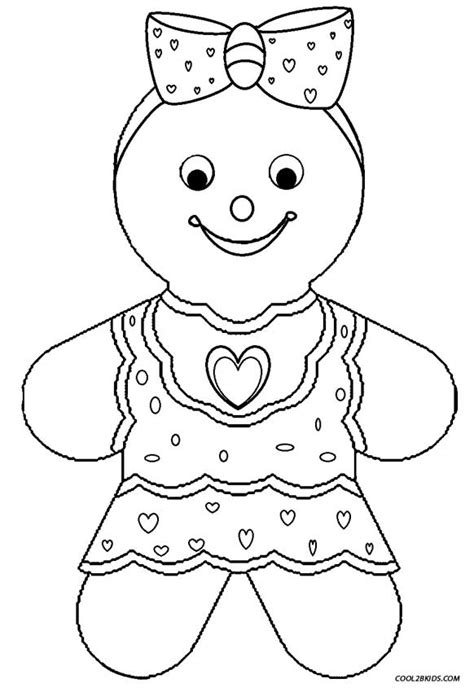 gingerbread color printable gingerbread house coloring pages for
