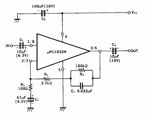 dual low noise preamplifier amplifiercircuitscom With upc1032h circuit