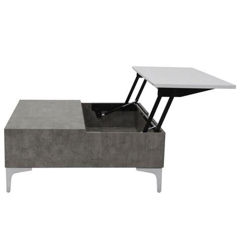 table basse effet marbre table basse relevable effet marbre quot pia quot 80cm gris