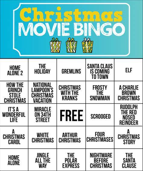 20 free printable christmas bingo cards. Free Printable Holiday Movie Christmas Bingo Cards ...
