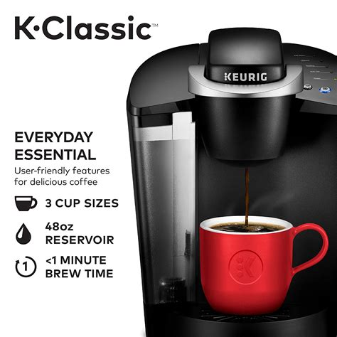 Never again have to worry about throwing away a whole pot of. Keurig K55/K-Classic Coffee Maker, K-Cup Pod, Single Serve, Programmable, Black - Best Cooking Shop