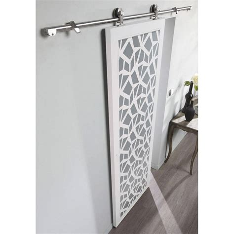 Ensemble porte coulissante Crash verre et MDF, rail Techno