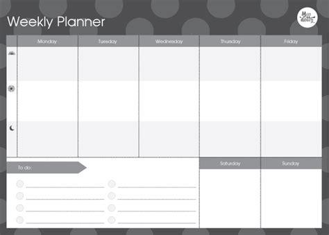 weekly planner pad felt