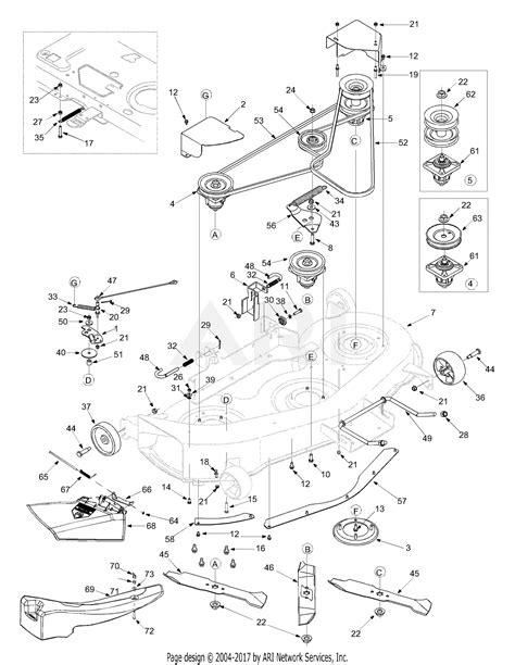 mtd aih  parts diagram  deck assembly