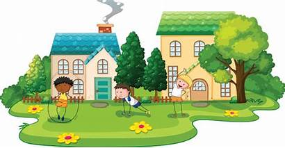 Types Clipart Houses Different Apartment Five Cottage