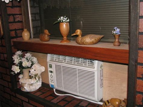 air conditioner shelf window air conditioner enhancement shelf by barb